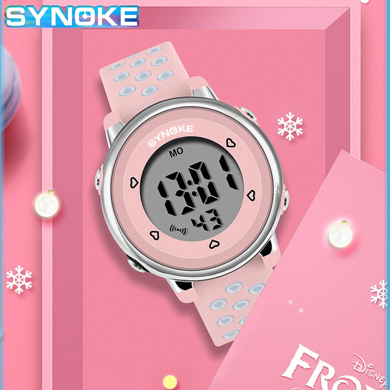 SYNOKE Kids Watches Boys Girls Digital LED Electronic Watch 50M Waterproof Wristwatch Children Watch Sport Student Kids Watches