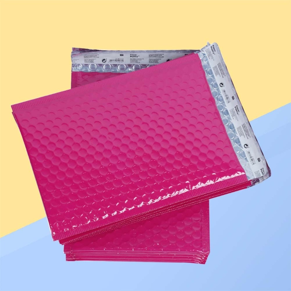 25 Pcs 15*20cm Bubble Mailers Self Seal Dot Padded Envelopes Shipping Mailing Envelope Bags Water Resistant(Rosy)