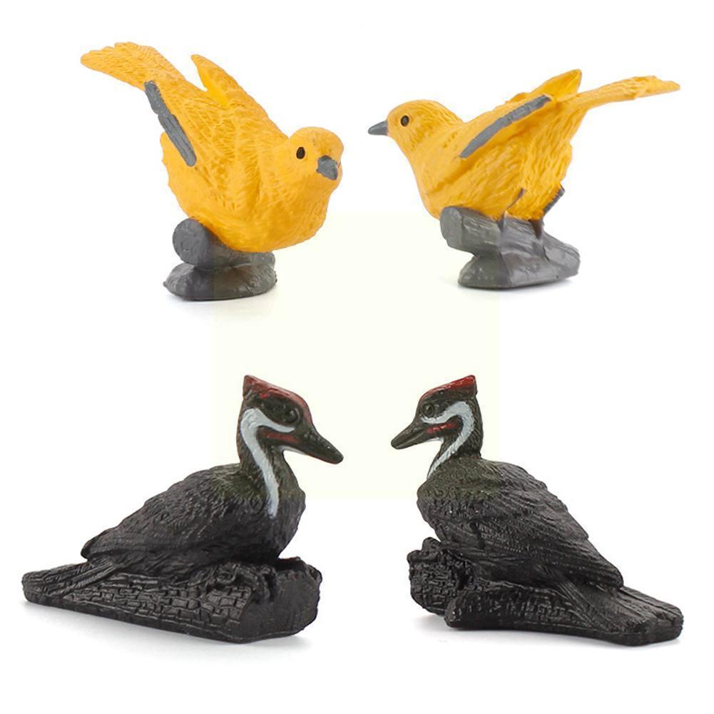 Variety Of Mini Bird Model Toys Oriole Woodpecker Yellow Cardinal Warbler Toys Decoration S7g0