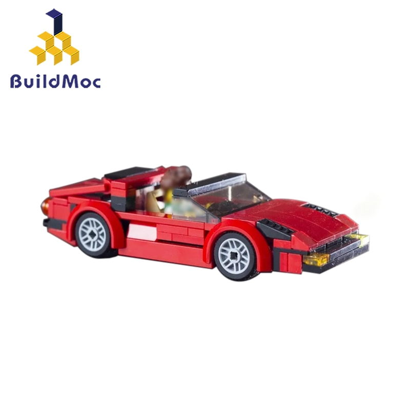 Classic Roadster Testarossa Coupe Car Building Blocks Bricks Models Kids Gifts