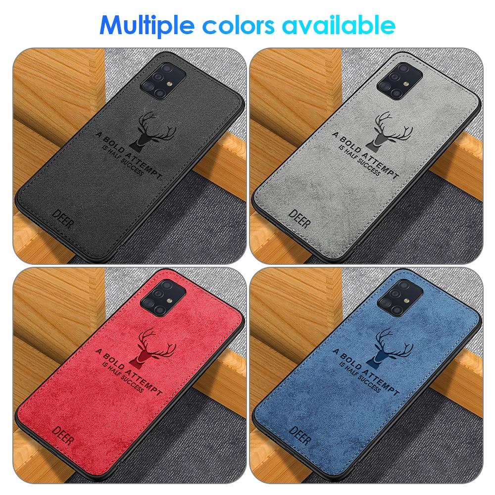 Tela para Samsung Galaxy A51 A515 A71 caso patrón funda protectora funda para samsung 51 71 lindo tela TPU funda para teléfono inteligente
