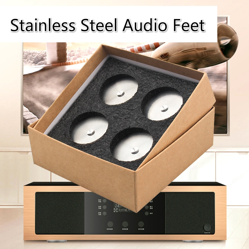 دعامات عازلة للصوت مصنوعة من الفولاذ المقاوم للصدأ ، ممتص للصدمات ، مكبر صوت ، قدم 49 مللي متر × 15 مللي متر ، 4 قطعة