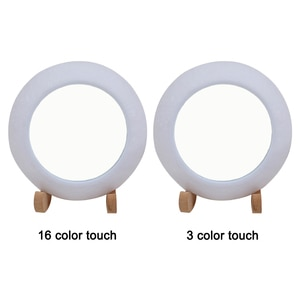 3D Moon Lamp , Tabletop Lighted Makeup Mirror Adults, Color Change Touch/Remote/Tap Control Bedroom Night Light
