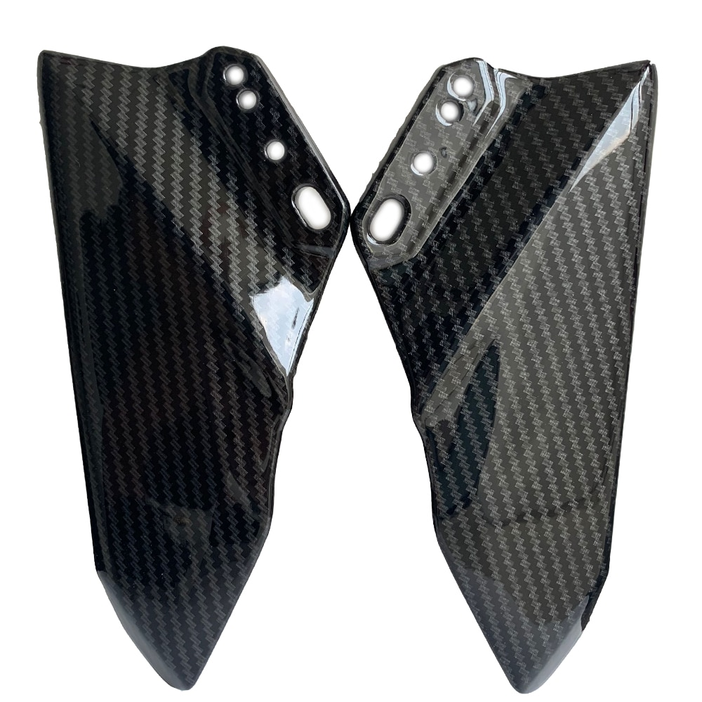 De Winglet aerodinámico Color carbono ABS Kit de alas Spoiler para Ninja 400 2018 CBR600RR CBR1000RR 2012, 2013, 2014, 2015-2019
