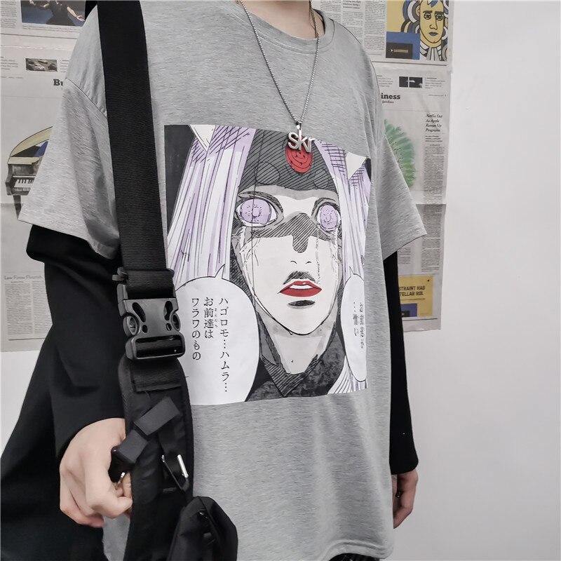 Anime manga larga Camiseta Naruto para hombres y mujeres Harajuku japonés Camiseta Ulzzang coreano camiseta ropa Streetwear ropa de primavera