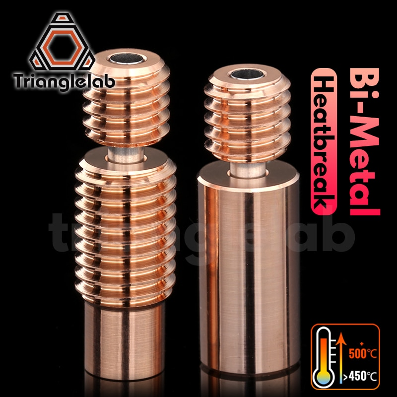 Trianglelab ثنائية المعدن كسر الحرارة ثنائية المعدن ل eثلاثية الأبعاد V6 هوتند سخان كتلة ل Prusa i3 MK3 كسر 1.75 مللي متر خيوط السلس