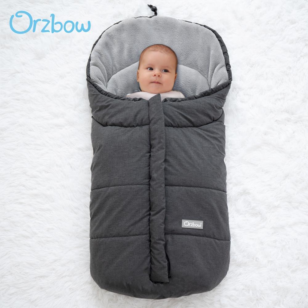 Orzbow الرضع استخراج المغلف الوليد كيس النوم للطفل عربة النوم Footmuff شتاء دافئ في الهواء الطلق الطفل شرنقة 0-12 متر