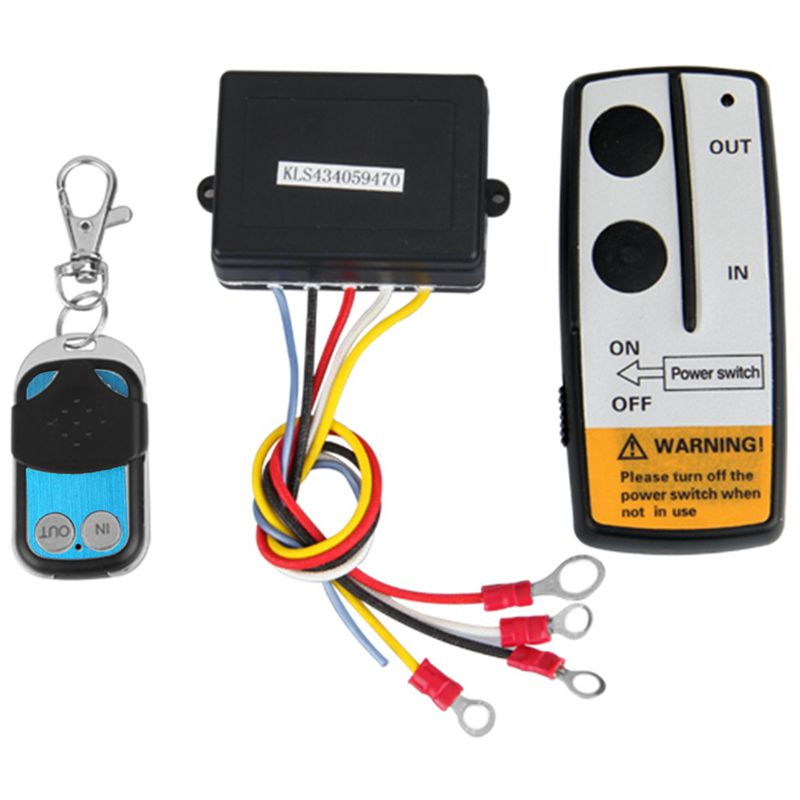 12V 12Volt 50ft Winch Wireless Remote Control Set for Truck Jeep ATV Warn Ramsey