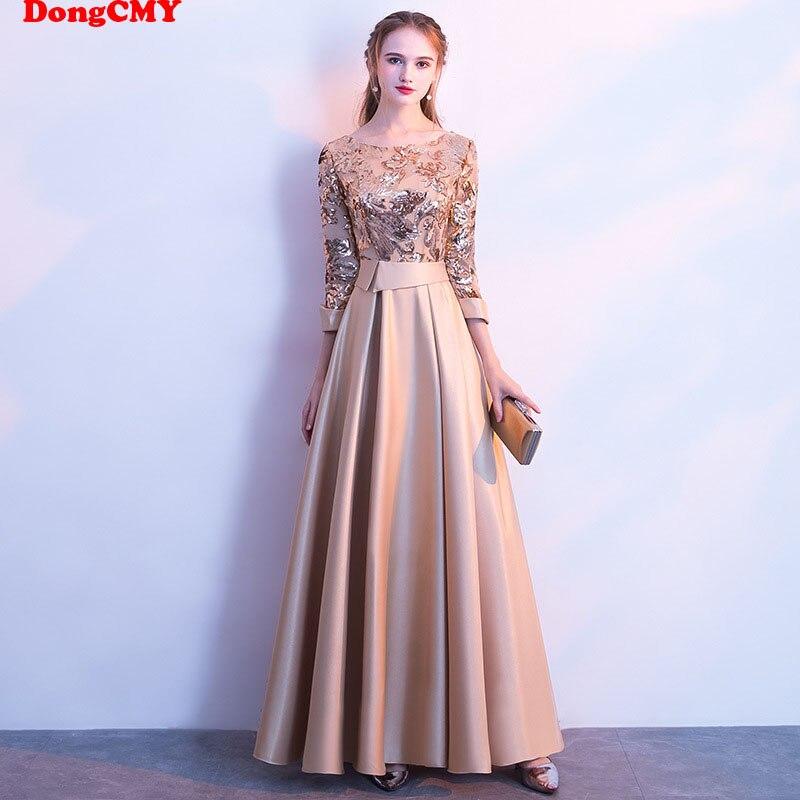 DongCMY Lange Formale Pailletten Prom Kleider Party Neue Plus Größe Robe de soiree Kleid