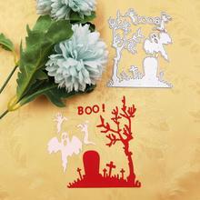Matrices de découpe en métal de Graveyard   Joyeux Halloween Graveyard, Scrapbooking artisanal pour Boo, cadeau dhorreur faisant soi-même des découpes