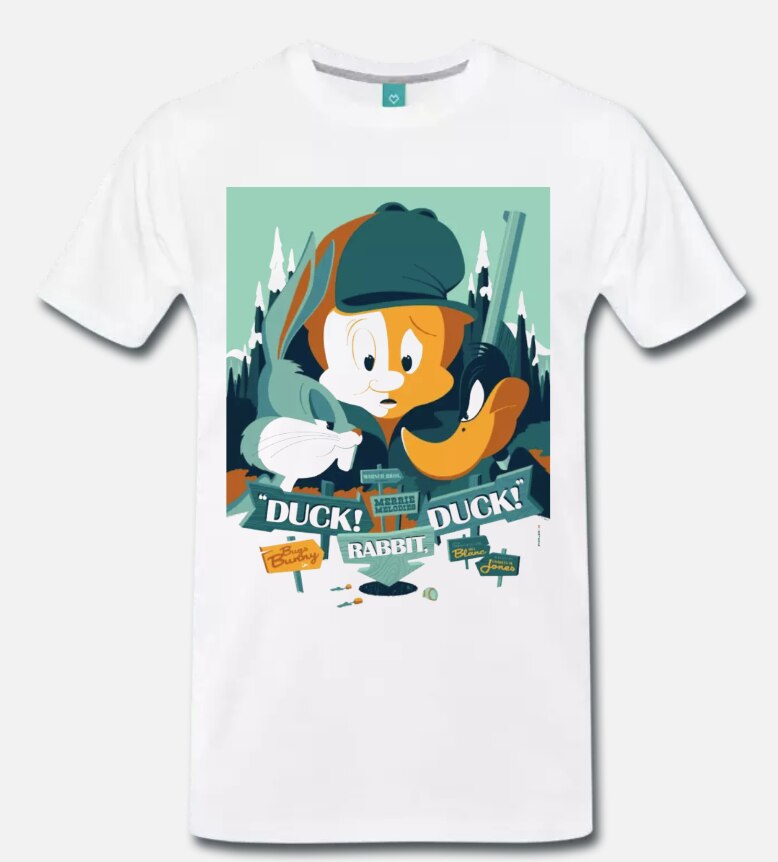 Camiseta de BUGS BUNNY DUFFY pato arte CARTONE- 1 - S-M-L-XL-2XL-3XL