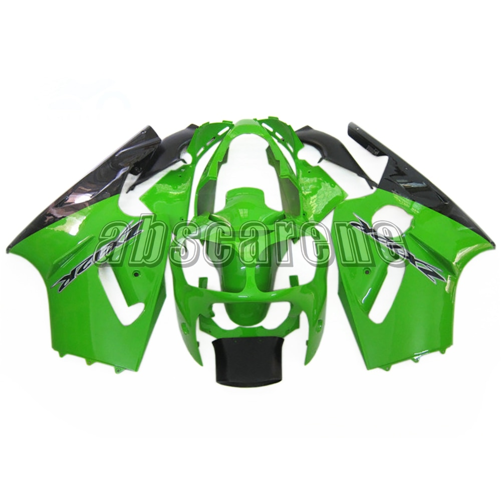 ZX-12R 2000 2001 kit carenagem completa para kawasaki zx12r ZX-12R 2000 2001 plástico abs carroçaria da motocicleta gloss verde preto carenes
