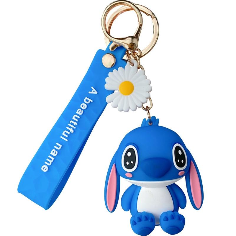 Disney cartoon Lilo & Stich Angie stich Figur Puppe Keychain für mädchen Tasche Charme Auto Anhänger Schlüsselanhänger