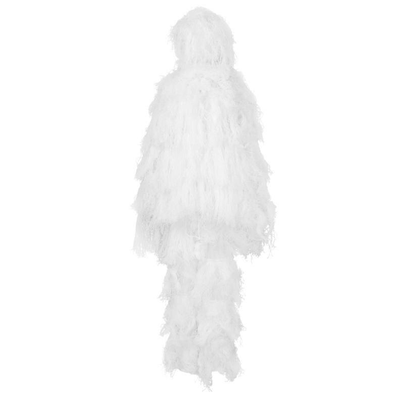 Ropa de camuflaje al aire libre Poncho fibra invierno nieve caza Stealth capa Bat camisa capa Ghillie traje ropa de caza