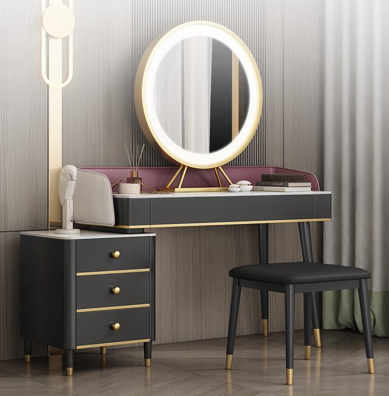 Скандинавский мраморный туалетный столик шкаф для хранения встроенный туалетный столик для спальни сетчатый красный стиль ins современный ...