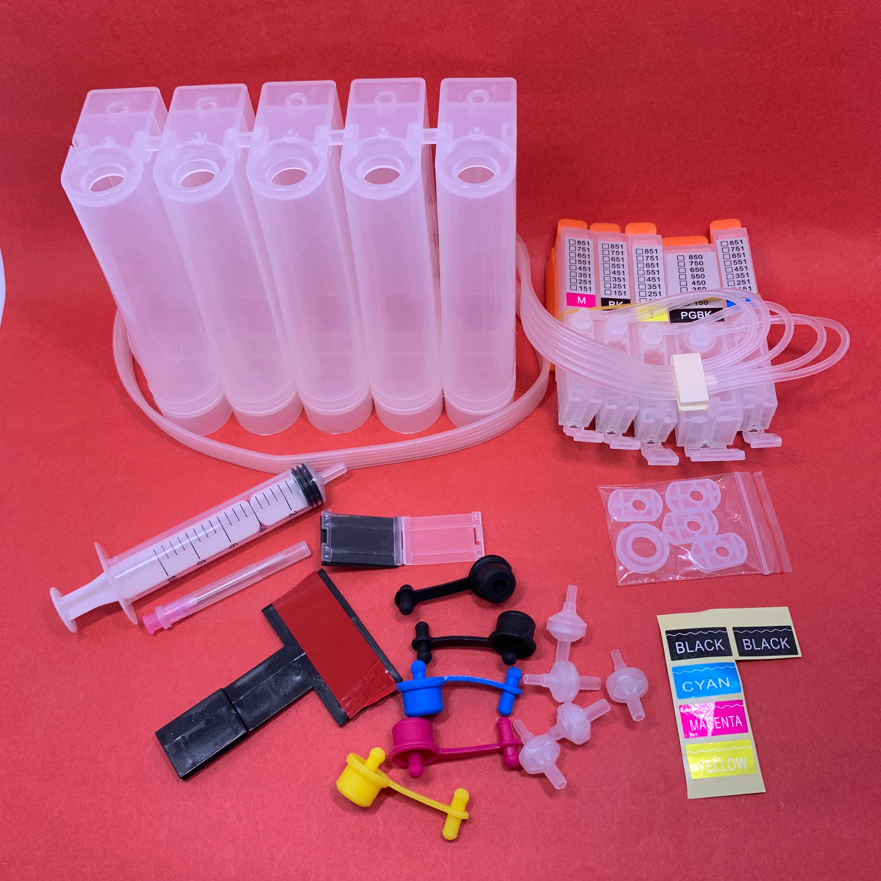 YOTAT 5color CISS ink cartridge PGI-550XL PGI-550 CLI-551 for Canon PIXMA IP7250 MG6350 MG5450 MX925 MG7150 MG6450 MG5550