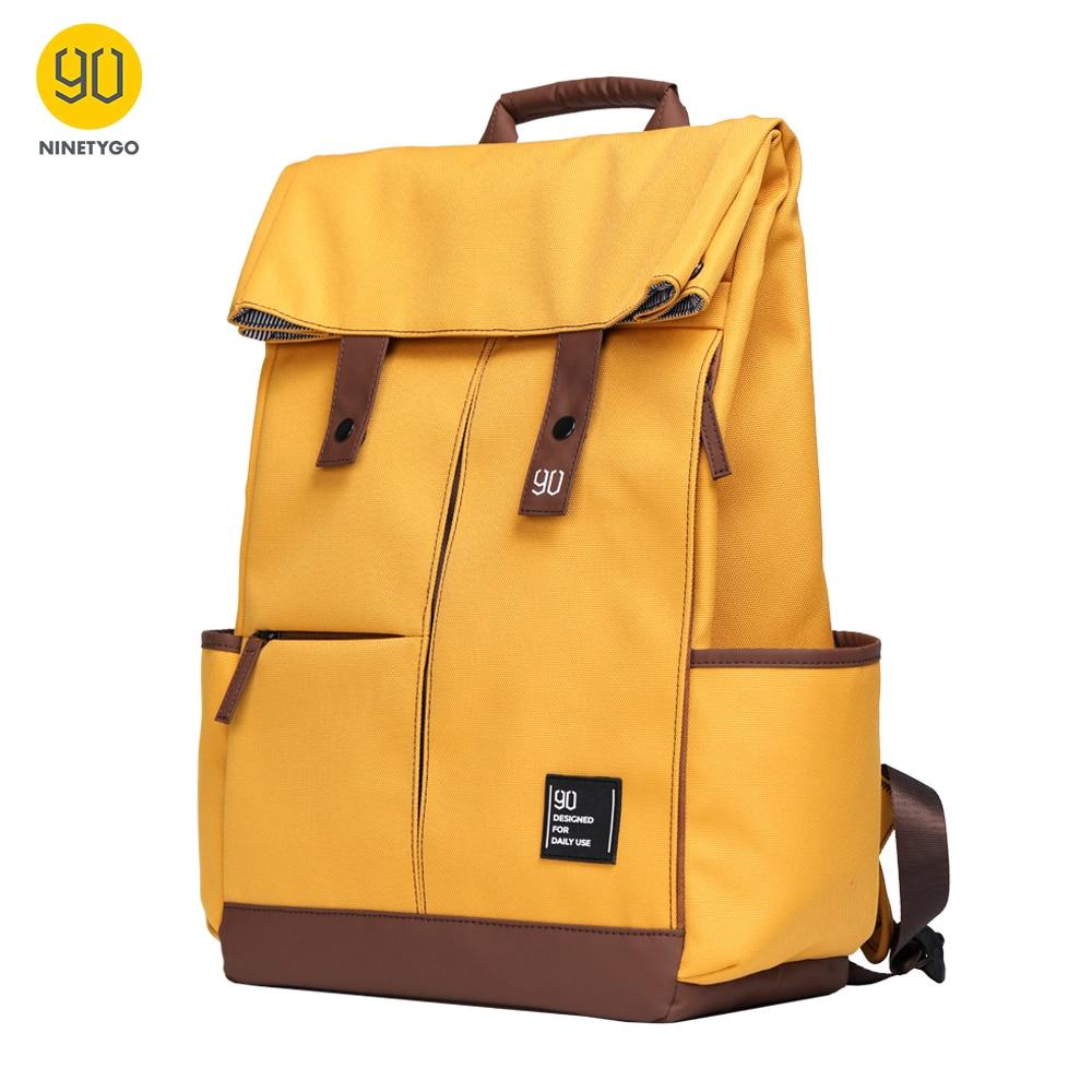 90 NINETYGO Young College Backpack Teenager Laptop 15.6 inch Waterproof Bag Fashion Leisure Unisex Casual Computer School Bag