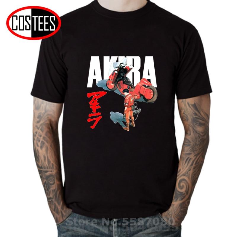 Estilo de moda de Akira shotaro Kaneda camiseta de los hombres de la cápsula de la motocicleta pintado camisetas Harajuku Anime película Streetwear T camisas