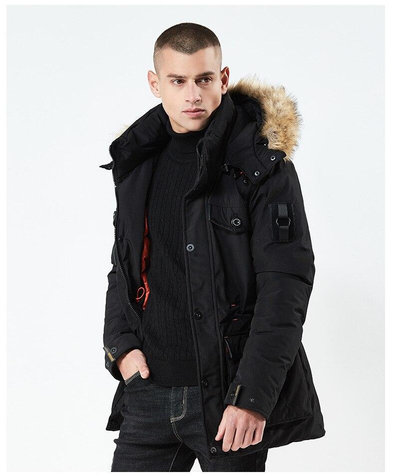 Chaqueta de invierno para hombre mantener el calor grueso de algodón acolchado...