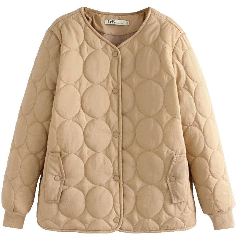 NewBang 4XL البيسبول طوق حجم كبير القطن خفيفة الوزن معطف المرأة الشتاء معطف دافئ مع سستة الإناث ضئيلة جاكيتات