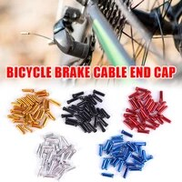 50pcs bicycle mtb brake wire end core caps cable aluminum cover gear bikes parts cycling equipments bicycle accessory dropship
