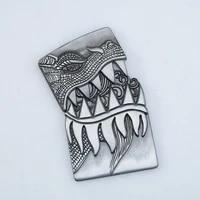 personality dragon head pattern diy metal badge for zp kerosene oil lighter grind wheel lighter decor accessory metal badge