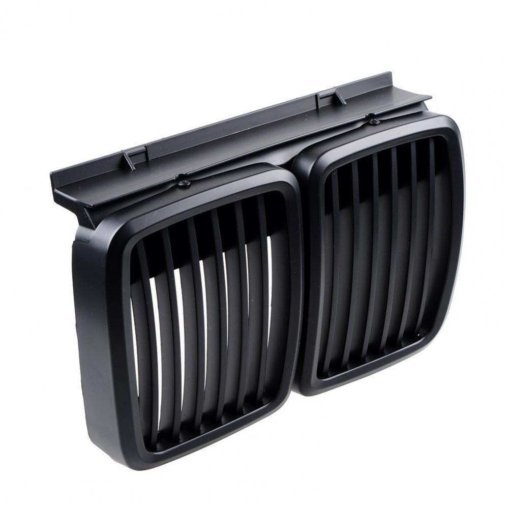 Автомобильные решетки, сетчатый лист, матовый черный Передний гоночный гриль 51131884350 для BMW E30 M40 1982-1994, 1 пара