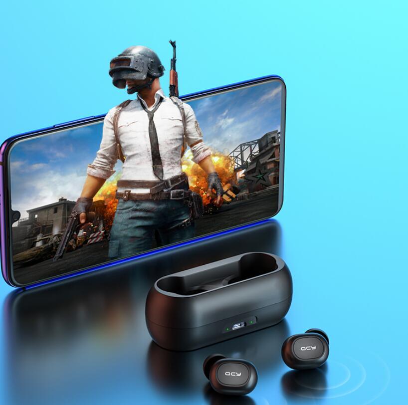 QCY T1C True Wireless Bluetooth In-ear Headset Binaural Sports Running IPX4 Waterproof Earphone Automatic Connection App Pop-up enlarge