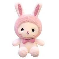 new huggable 1pc 25 60cm super kawaii rabbit plush toys cute shark bear stuffed soft accompany pillow kids birthday gift dolls