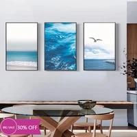 Toile de decoration de noel  peinture danimal  affiche de mouette  vague doiseau docean  Art Mural pour decoration de salon  decoration de maison