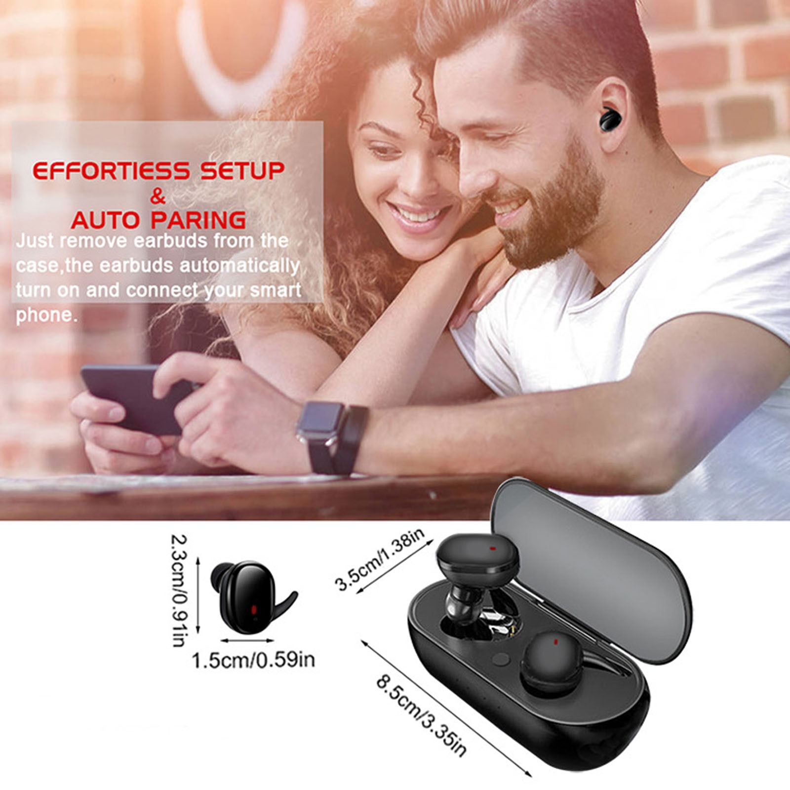 Y30 TWS Bluetooth Earphones Wireless Headphones 3D Stereo Sound Music In-ear Earbuds Headsets with Charging Box for Smartphone enlarge