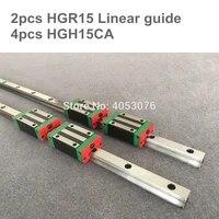 free shipping 2pcs linear rail hgr15 1200mm 1500mm 4pcs hgh15ca hgw15ca linear guide rail block cnc part