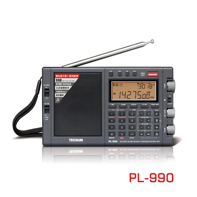 Radio Estéreo Portátil Tecsun PL-990, sintonizador Digital de banda completa de alto rendimiento, Radio FM AM, SW SSB con receptor Bluetooth