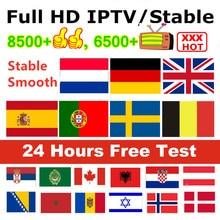 IPTV espagne belgique pays-bas allemagne royaume-uni arabe italie Canada pologne IPTV abonnement pour IPTV M3u Android Mag Smart tv IPTV