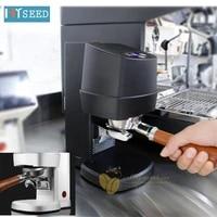 electric coffee powder press espresso coffee machine merchants with semi automatic powder hammer handle filling press 58mm black