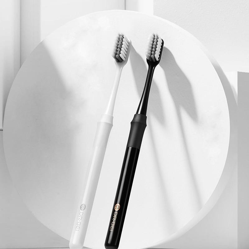 Xiomi DR. Original Cepillo de dientes de bambú Bei, cómodo cepillo de dientes de limpieza suave con caja de viaje, cuidado Dental Xiami, higiene bucal