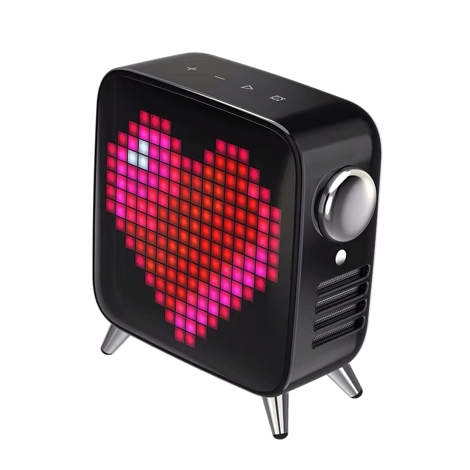 Portable Bluetooth Pixel Art Bluetooth Wireless Speaker with 2.1 Audio 40W Output Heavy Bass Speaker With Programmable LED Panel