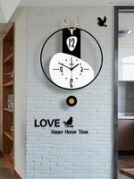 deer pendulum hanging wall clock modern design wall clocks nordic design kids bedroom horloge living room decoration bi50wc