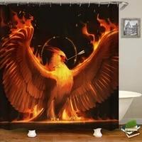 3d flame phoenix printed shower curtains waterproof bathroom curtain with hooks animal eagle bath shower curtain home decor