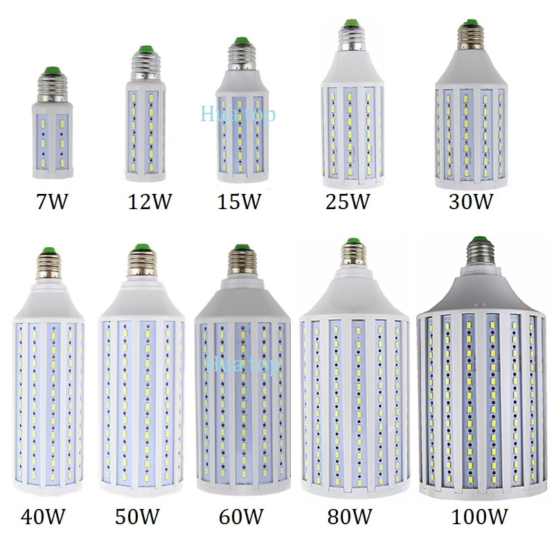 Lighting light 7W 12W 15W 25W 30W 40W 50W 60W 80W 100W AC85-265V Spot lamp E27 E26 E14 B22 E39 E40 w