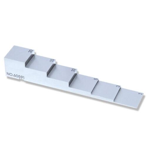 6 خطوة 304 الفولاذ المقاوم للصدأ اختبار كتلة و بالموجات فوق الصوتية اختبار كتلة مع سمك 1 3 5 10 15 20 مللي متر ل بالموجات فوق الصوتية سمك تستر