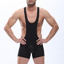 Masculino sexy macacões pênis bolsa wrestling singlet bodysuit sem costura deslizamento undershirt lingerie hombre erotica bodywear shorts