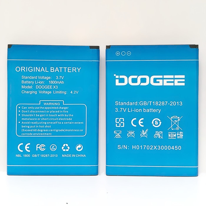 Doogee x3 Battery Replacement 100% Original High Quality 1800mAh Back-up Battery for Doogee x3 Mobil