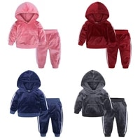 2019 girls clothing sets children clothing autumn winter toddler girls clothes 2pcs outfit kids tracksuit suit for boys clothes