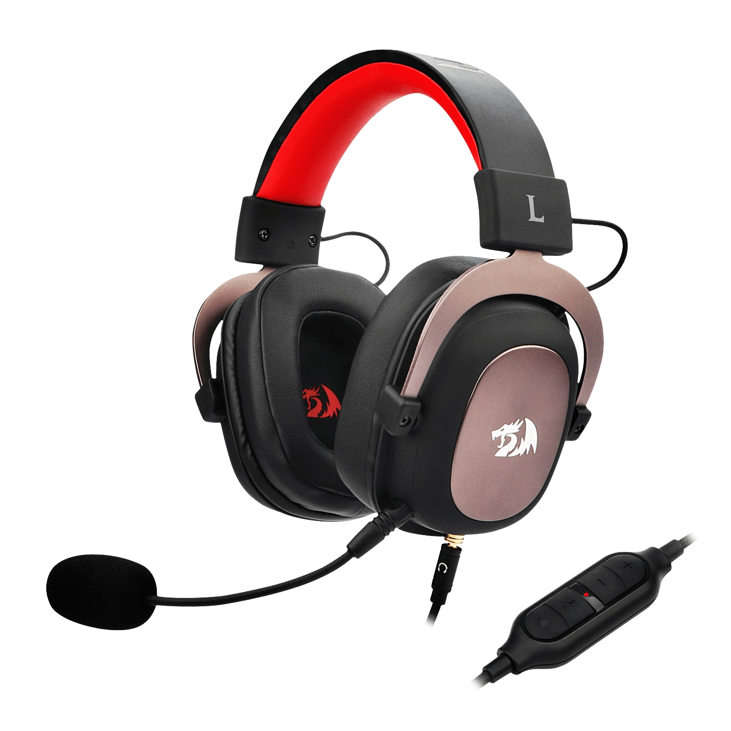 Redragon H510 Zeus Wired Gaming Headset 7.1 Surround Sound Multi Platforms Headphone Works PC Phone PS5/4/3 Xbox One/Series X NS