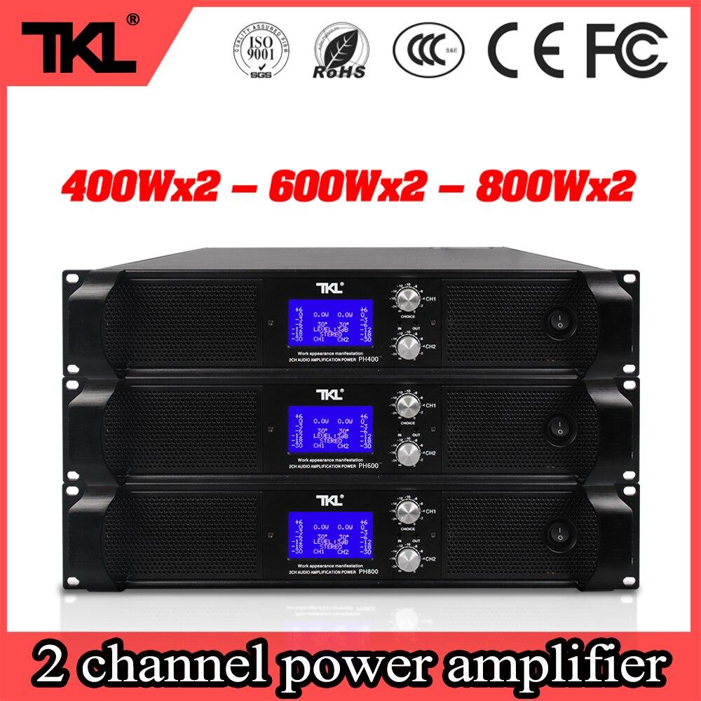 TKL PH800 2X800W 8 أوم المهنية 2 قنوات الطاقة مكبر للصوت المرحلة المنزل الكاريوكي DJ الطاقة مكبر للصوت