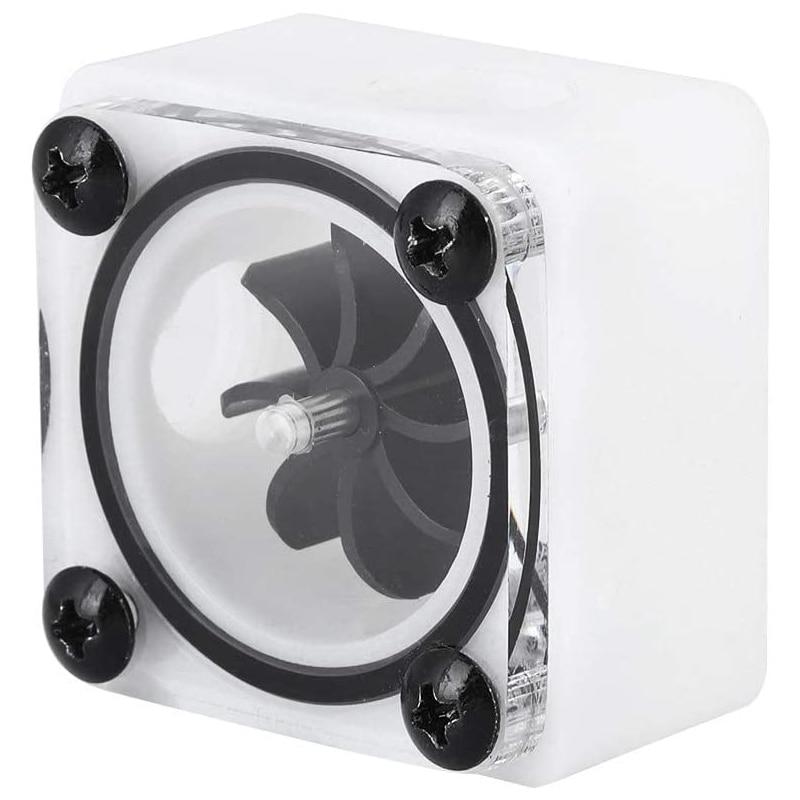 Durable G1/4 rosca de velocidad giratoria de refrigeración de agua impulsor medidor de flujo de agua indicador, para PC sistema de refrigeración de agua (3 vías)