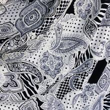 1 Yard * 150 Cm Retro Paisley Stof 3D Lycra Spandex Jersey Gebreide Textiel Voor Rok