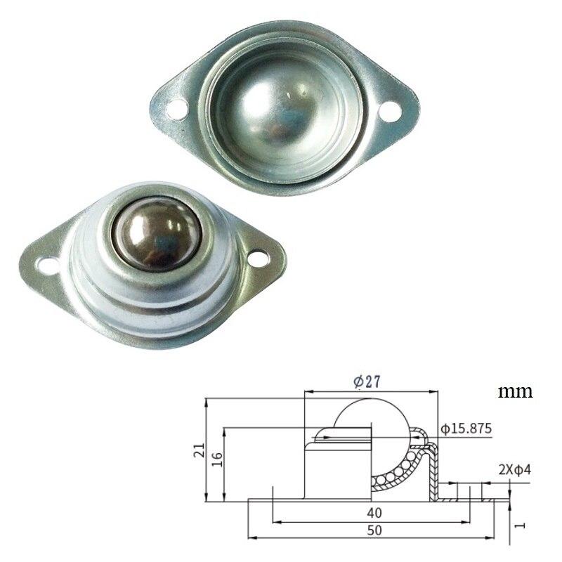 20 unids/lote Premintehdw 15mm 10KG bola ruedecilla rodamiento rodamientos de transferencia rueda universal