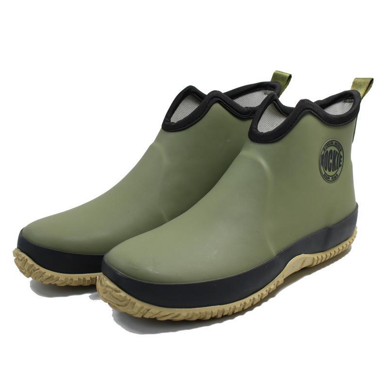 Swonco Men Rubber Shoes Waterproof Rain Boots 2020 Autumn New Male Short Ankle Boots Waterproof Rianboots Shoes